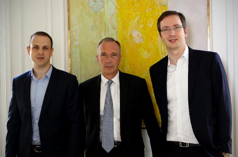 Kevin Dumoux (à gauche), Alain Papiasse (au centre) et Krys Pagani (à droite) - Parcours K2 par le Cercle K2