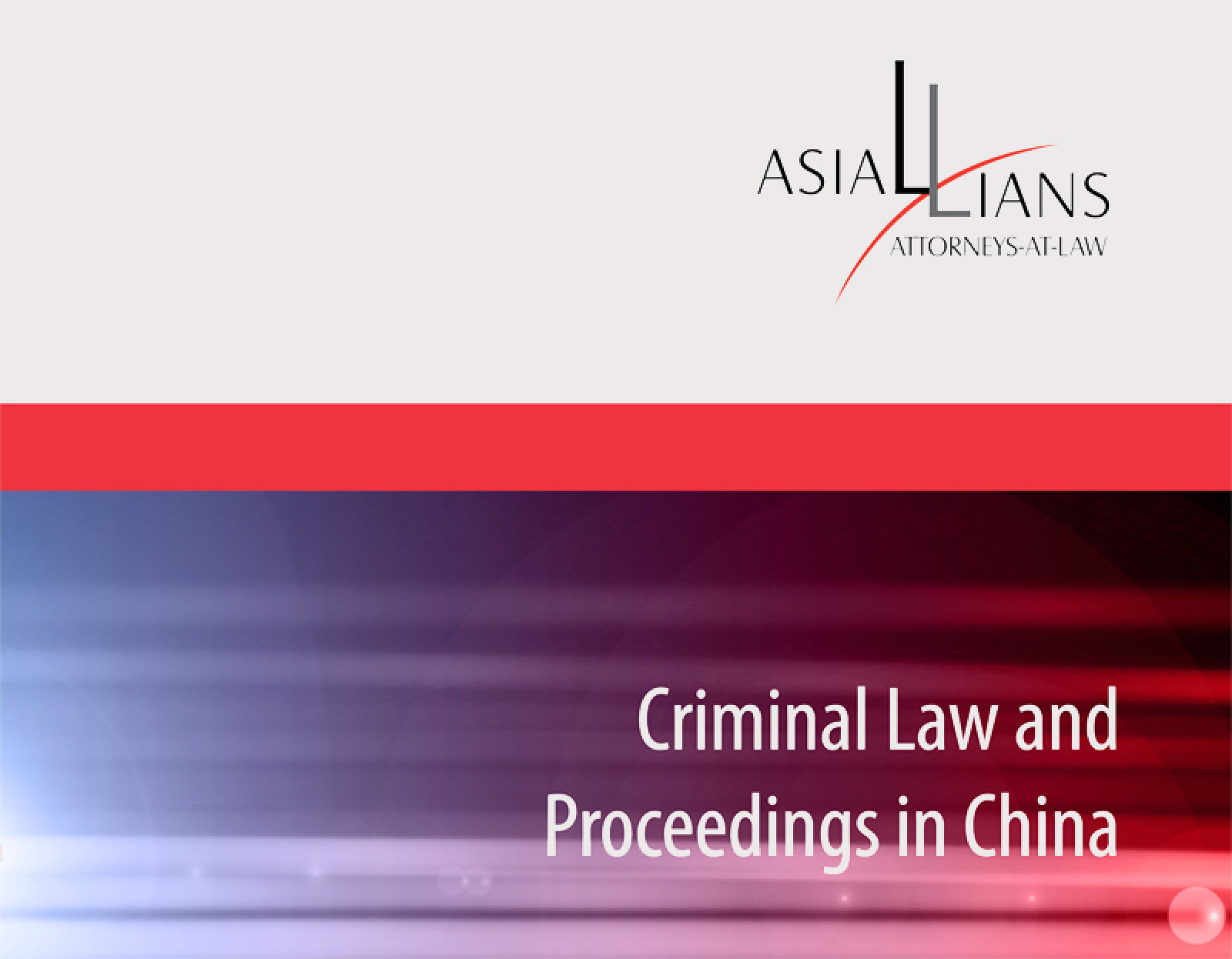 Criminal Law and Proceedings in China - Cercle K2