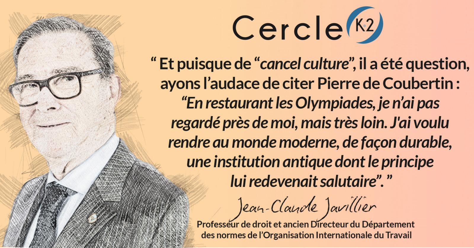 Non à la culture du renoncement (cancel culture). Oui aux valeurs et à la flamme olympique et paralympique - Cercle K2