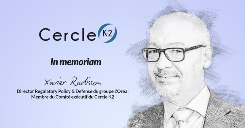 Décès de Xavier Radisson, Membre du Comité exécutif du Cercle K2