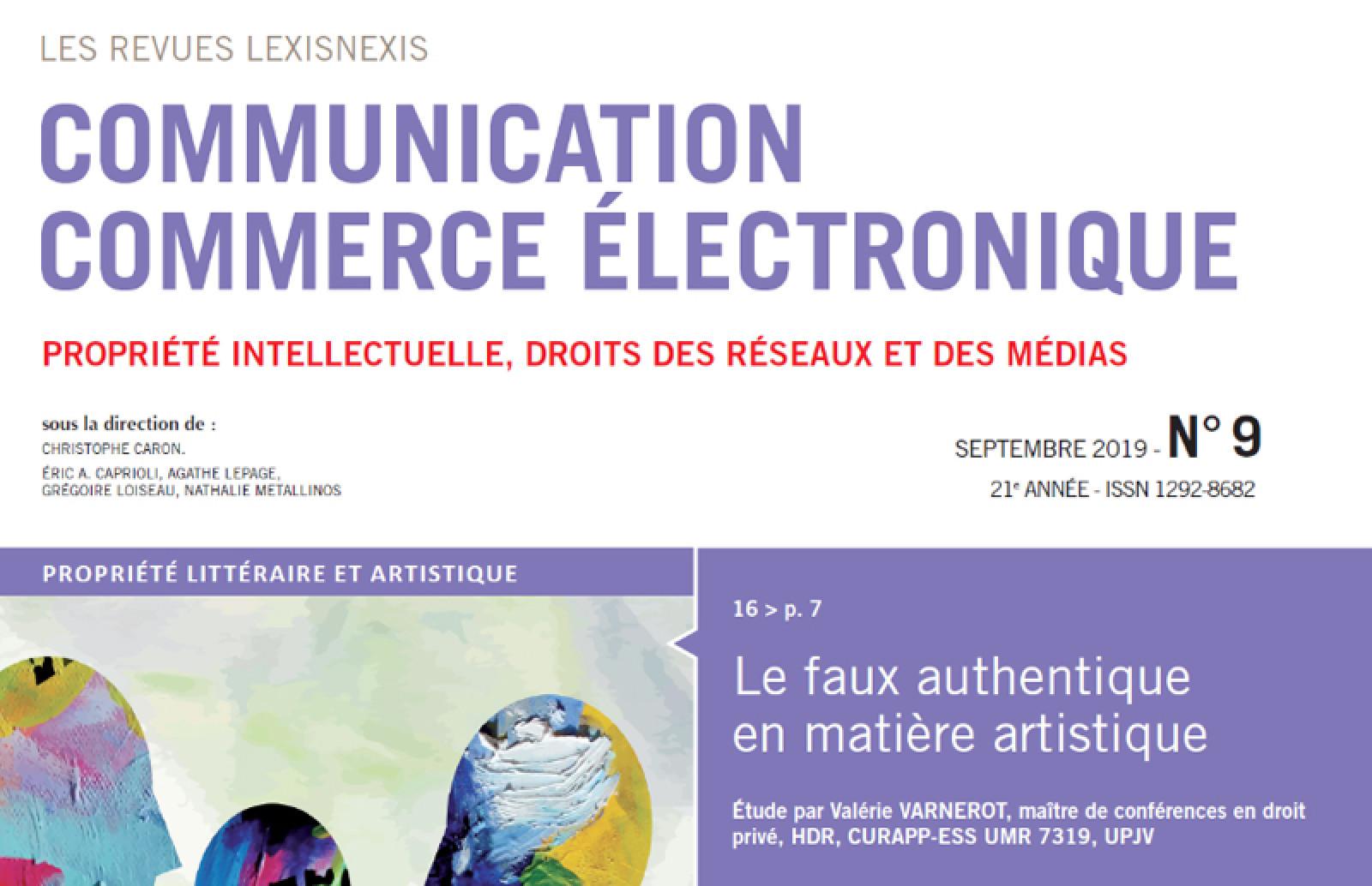 """Présentation du Cercle K2 - Revue """"Communication Commerce Electronique"""" de LexisNexis - Cercle K2"""
