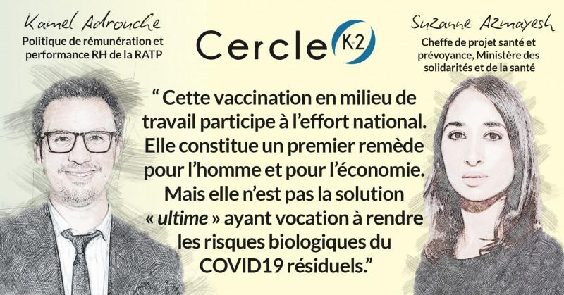 La vaccination sur le lieu de travail, une participation à l'effort national - Cercle K2
